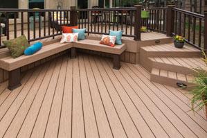 苏州自然木集成木屋WPC塑木地板PVC长城板