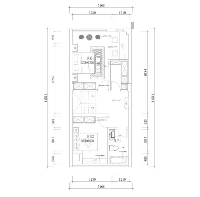 风格:现代欧式混搭风格 楼盘:宗申塞纳维 设计:岚庭装饰-杨田 二楼