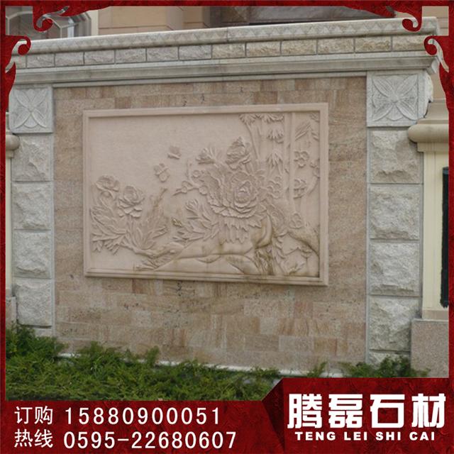 别墅外墙石材浮雕室内干挂石材干挂板材欧式别墅幕墙图片