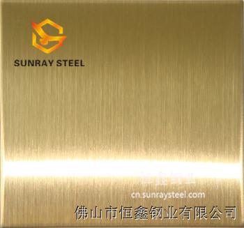 供应201不锈钢钛金拉丝板  拉丝不锈钢板