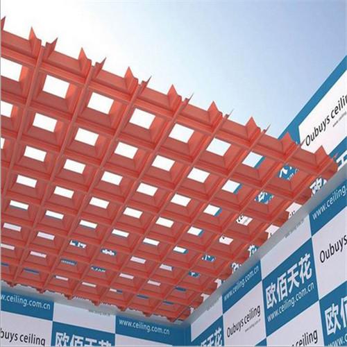 专业提供室内吊顶塔形铝格栅天花装饰效果图