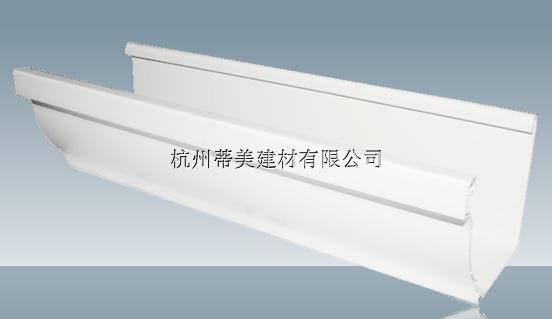 供应康保县PVC彩色成品天沟方形雨水管现货