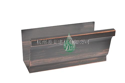 供应建宁县彩铝屋顶天沟铝合金水槽雨水管