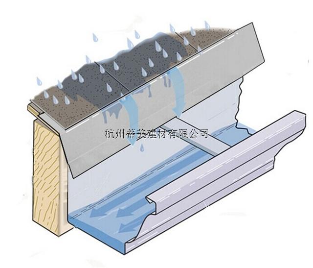 任丘市檐槽铝合金屋檐接水槽钉钉定制发货