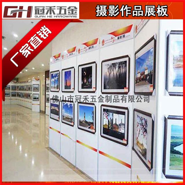 书画展厅专用屏风展架 八棱柱书画作品屏风图片