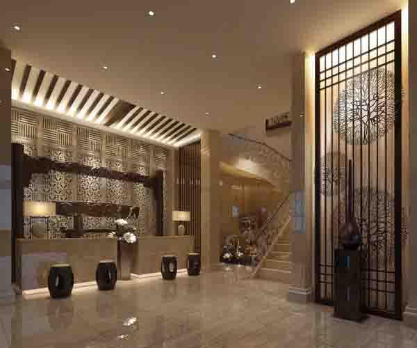 酒店大堂铝单板 大堂吊顶铝单板定制图片