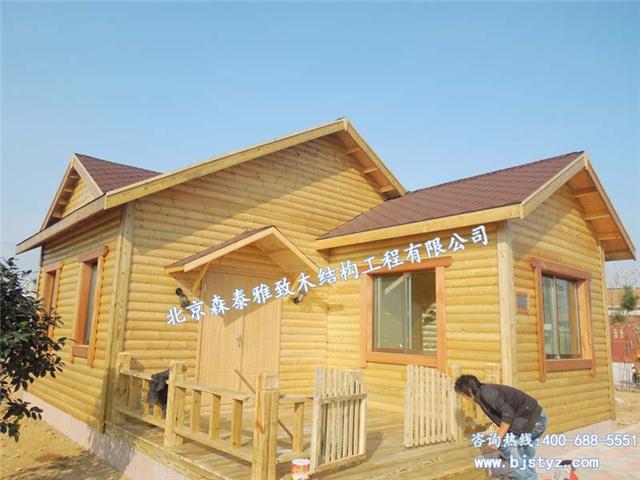 木屋和木制别墅替代一般常见的建筑小品