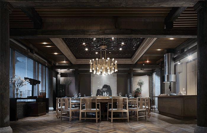 设计时间:2015.7-2015.9 项目类型:高档饭店装修 设计风格:沉稳庄重 简介: 本案是南昌一家中式高档饭店装修案例,它带给人的是一种江南小镇的中国古典美感。设计师为了营造出这种美感,在装修材料的选用中采用了大量的青砖和原木。青砖墙面是酒店氛围营造的最重要部分,当然中国传统的原木门窗蕴含的中式气息也很浓重,但设计师用来表现饭店整体氛围的重点却在青砖墙上,尤其是饭店过道的部分,给人一种明清时期江南大宅院的感觉。南昌中式高档饭店在软装的搭配并不多,但就是这些为数不多的装饰物与硬装巧妙的搭配,烘托出了饭