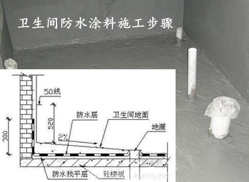 卫生间防水涂料施工步骤