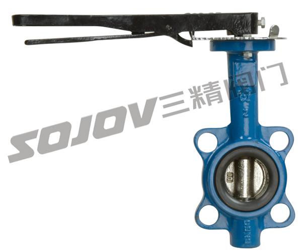 供应D71X/J铸铁对夹式衬胶蝶阀