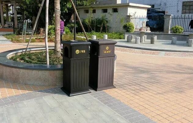 【户外公园垃圾桶钢结构户外垃圾桶果壳箱