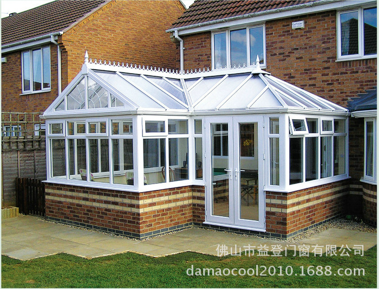欧式铝合金阳光房 防水欧式钢化玻璃阳光房图片