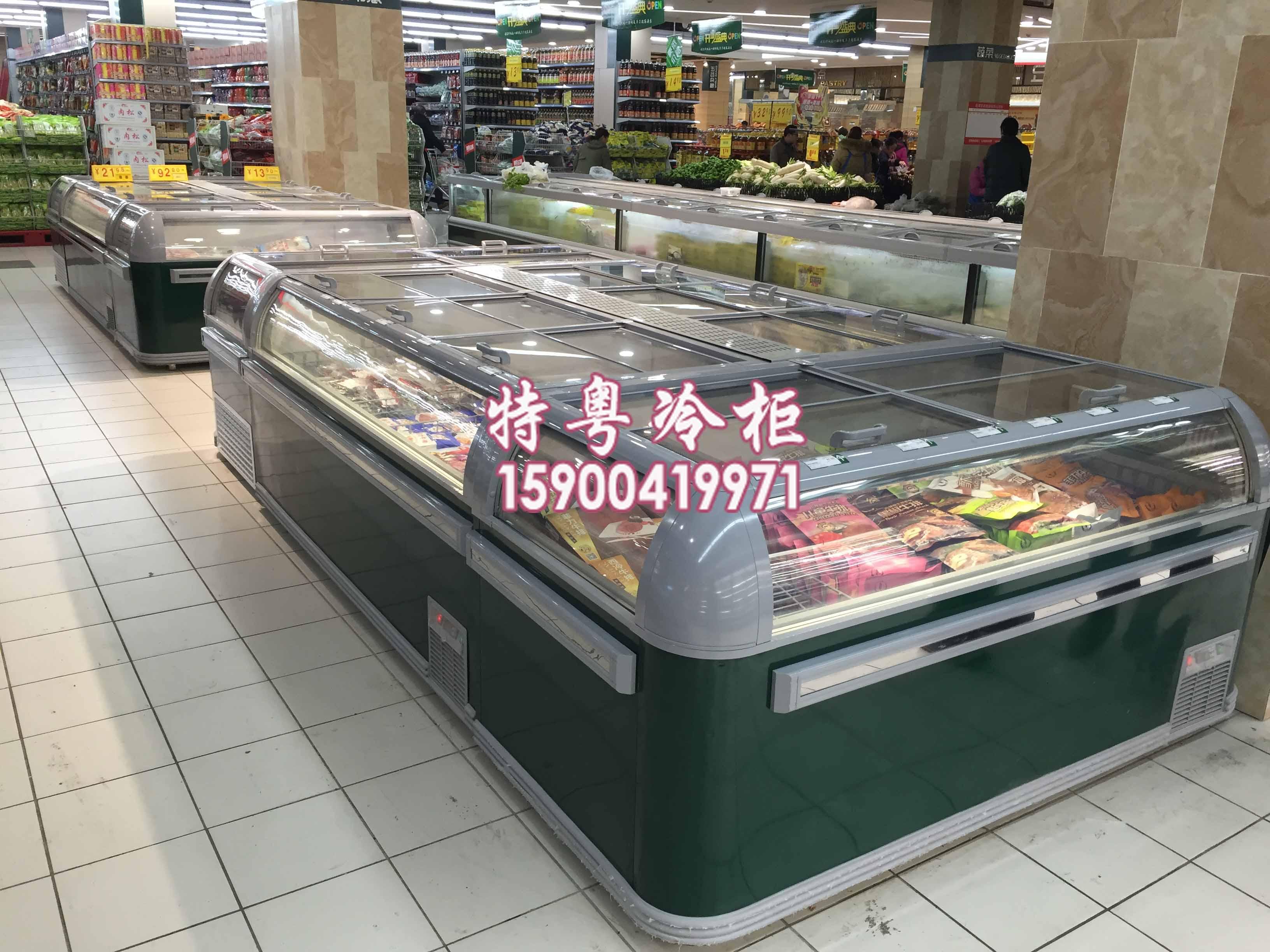 dig超市海鲜冷冻柜/卧式组合低温岛柜价格