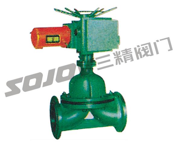 电动 电动衬胶隔膜阀 主要零部件材料表 序号 零件名称 灰铸铁 铸钢图片