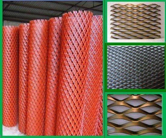 鸡西喷红漆菱形钢板网中禹专业厂家制造批发