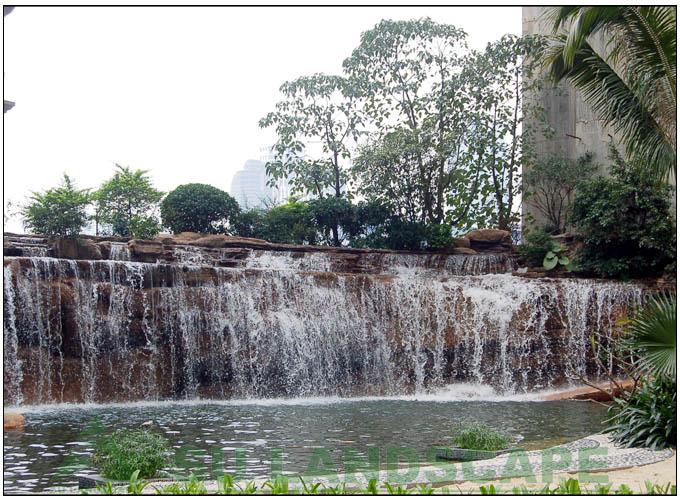 供应重庆假山瀑布制作图片