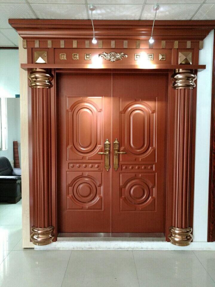 门窗不锈钢门不锈钢转印门罗马柱大门