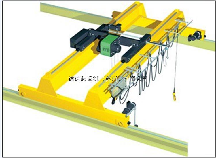 特性描述 总体 欧式优化设计,自重轻,轮压小,尺寸矮 起重量达到80t 多种模式满足所有用户的各种使用 优秀的驱动性能,变频调速,运行平稳 机械 双主梁,焊接箱形,拱度符合国家标准 钢板材料为Fe37或Fe52 (相近国内钢材Q235B或Q345B) 腹板由40m数控切割整幅下料,确保拱度曲线的光滑成型和精度 主焊缝采用埋弧自动焊,无损探伤 焊后整梁抛丸处理,达到Sa2.