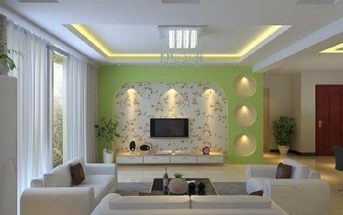 新房客厅装修效果图——成都华阳装修公司