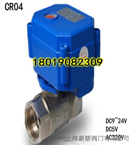 CR04 AC/DC9~24V 2W DN25 微型电动球阀304