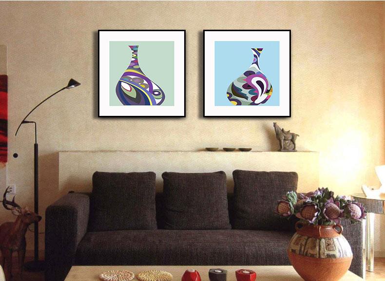 【木亞muya抽象花瓶客廳裝飾畫】生產供應商廠家