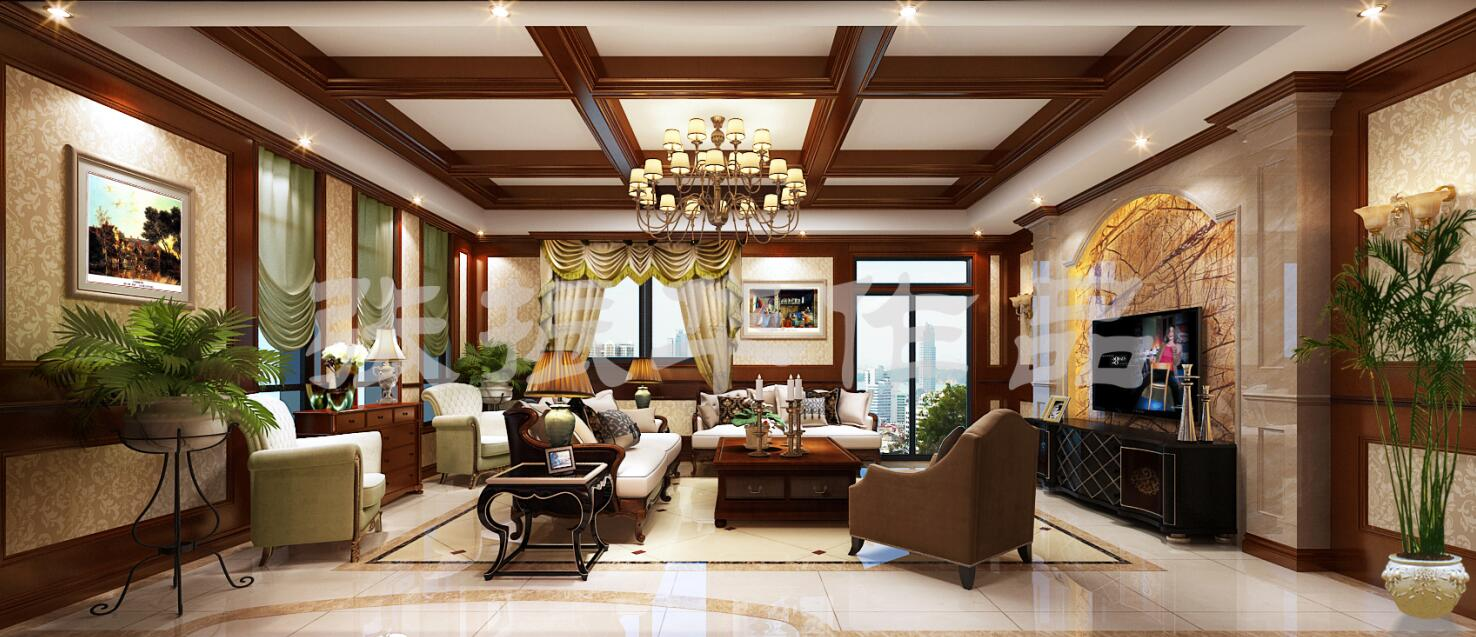 重庆别墅装修设计案例效果图 融创竣爵堡别墅