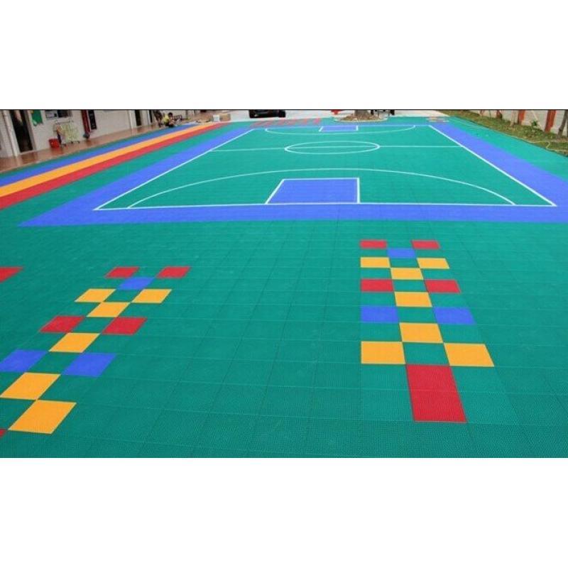 悬浮拼装地板菱形方格