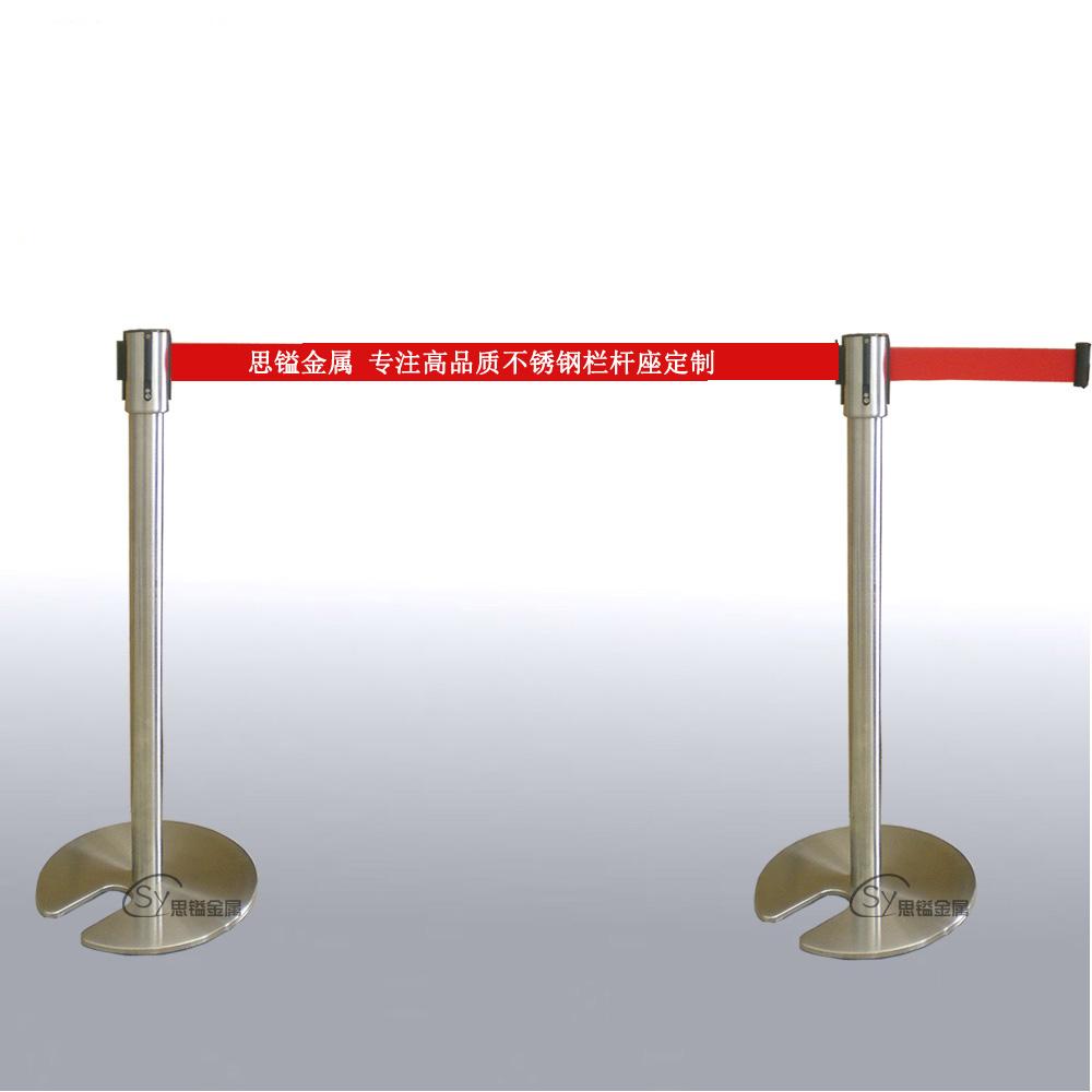 供应日本专用可叠式拉丝钢栏杆座加重铸铁底
