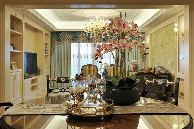 重庆大平层装修设计 棕榈泉优雅欧式古典装修实景图
