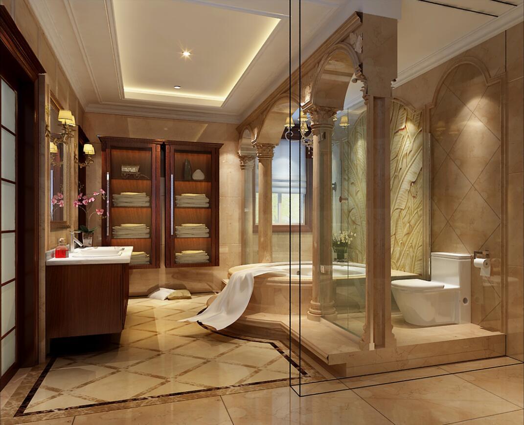 重庆独栋别墅装修设计案例效果图 美利山十五庄园别墅图片