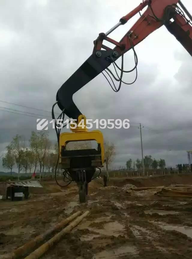 供应挖掘机液压打桩机打桩锤震动打桩锤图片