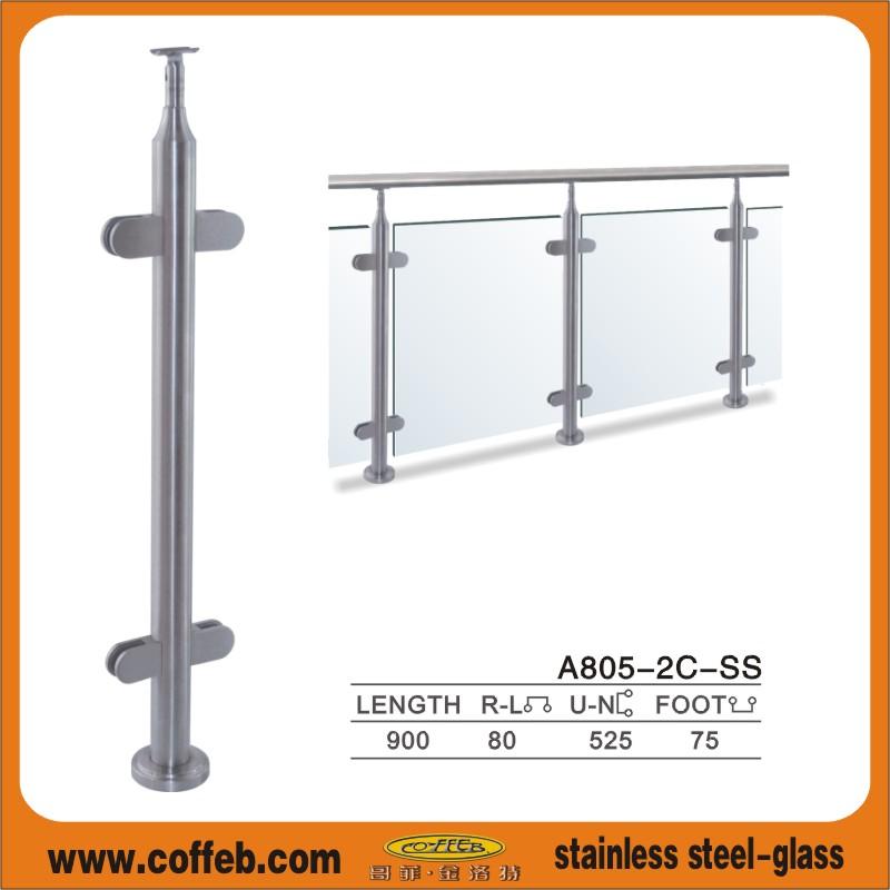 供应不锈钢楼梯扶手立柱(图)