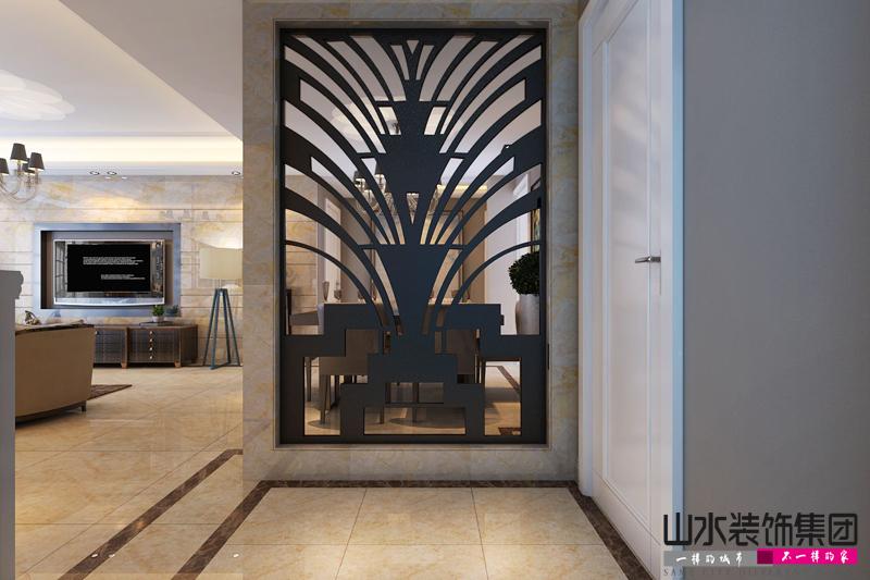 【山水装饰】凯旋门110平米现代风格案例