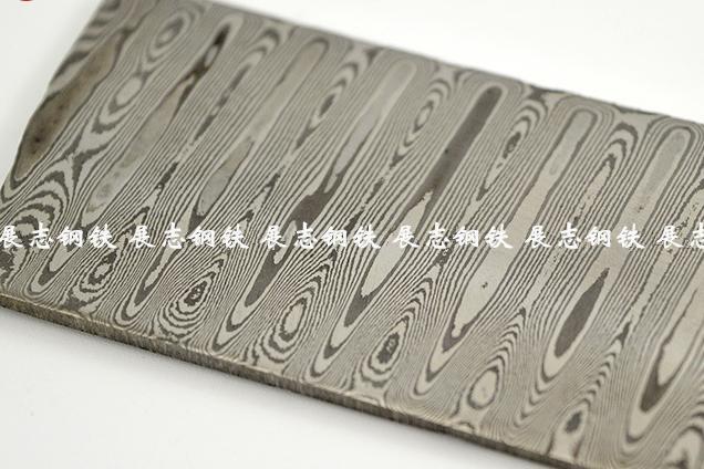 花纹钢板材 大马士 革钢材料 可定做各规格