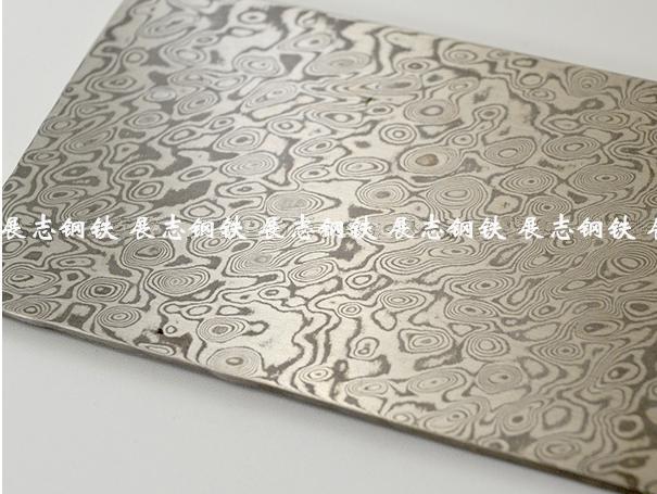 大马士 革钢材料 花纹钢板材棒材 可定制