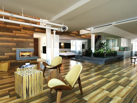 佛山仿海棠木木纹瓷砖的生产流程