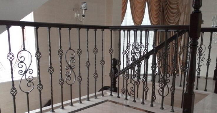 高档铁艺楼梯扶手图片