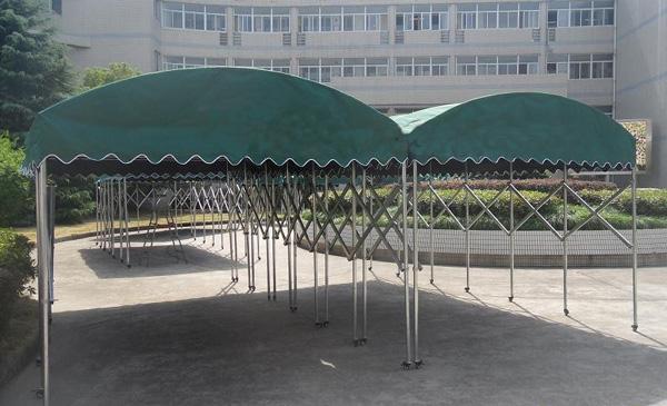 雨棚伸缩式雨蓬   东莞市具久蓬业钢结构工程有限