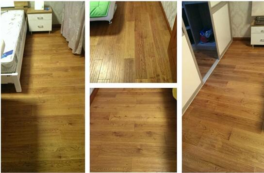 贝亚克3611栎木仿古实木地板,采用手抓纹仿古形式,产品规格为910*152*18,颜色为橡木本色。橡木纹理直,色泽淡雅纹理美观,耐磨损,干缩小,木材性能也是非常好的。橡木的自然质感非常纯正,让生活在钢筋和混凝土建筑里的人们感到自然的气息,体现出高雅的品位。给人以亲切、贴近自然的感觉。欧美国家素来以橡木作为天然原始木材的象征,橡木文化给欧美国家带来了深刻的影,法国卢浮宫与橡木,橡木与红酒等等,橡木地板赋予了更多的人文气息。