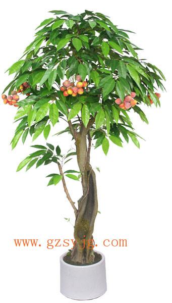 广州庆缘景观供应仿真荔枝树 仿真果树