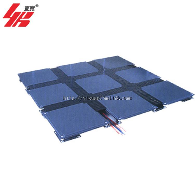 上海宜宽直销OA全钢带线槽网络地板出线方便