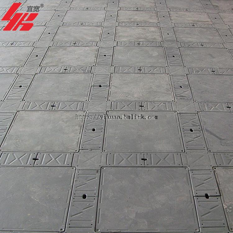 供应上海宜宽牌OA全钢带线槽架空活动地板