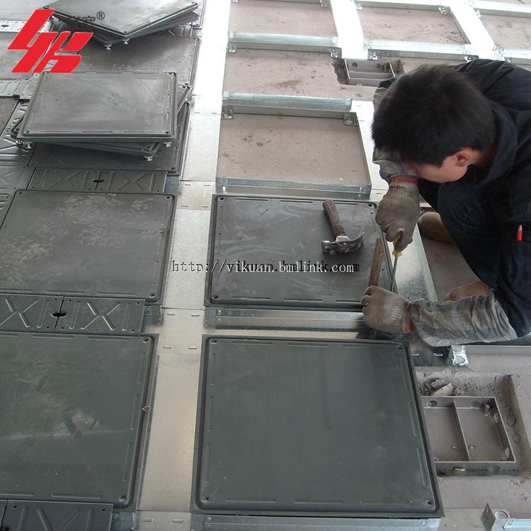 供应宜宽牌OA全钢带线槽网络地板 包安装