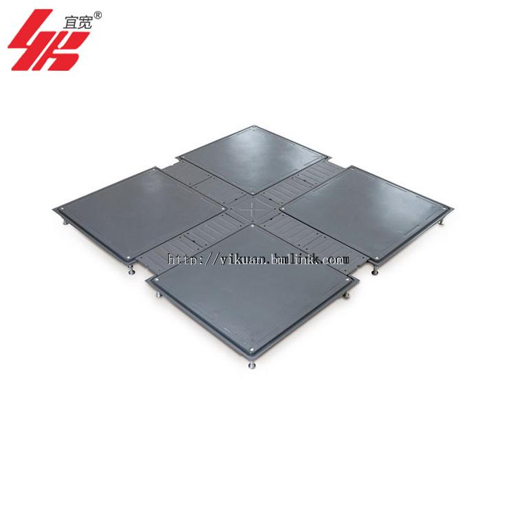 上海宜宽供应OA全钢带线槽网络地板 包安装