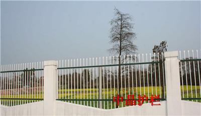 供应无锡镀锌钢浸塑围墙护栏厂家