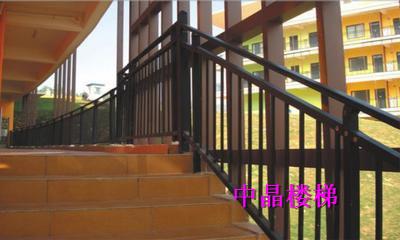 供应南京热镀锌浸塑楼梯扶手厂家