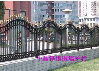供应高邮镀锌钢围墙护栏生产厂家