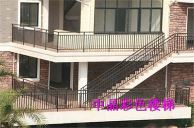 供应芜湖热镀锌浸塑楼梯扶手价格
