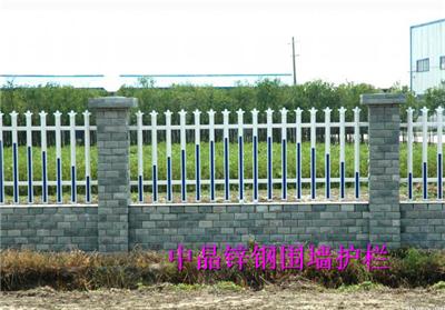 供应徐州浸锌钢喷塑围墙护栏厂家