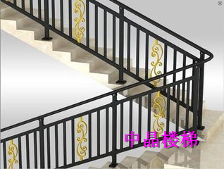 供应海安锌钢环保喷塑楼梯扶手